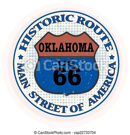 selo, rota, histórico, oklahoma - csp22733704