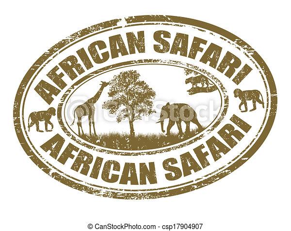 selo, safari, africano - csp17904907