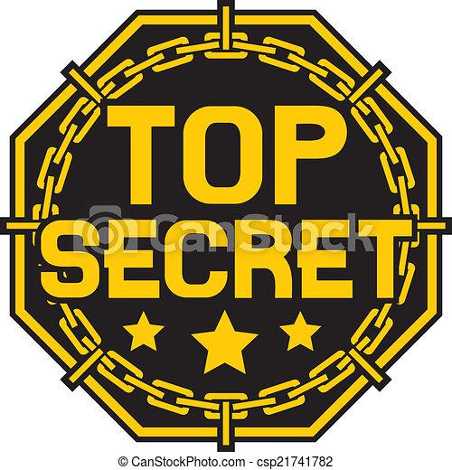 selo, segredo superior - csp21741782