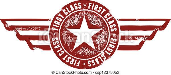 selo, viagem, classe, primeiro - csp12375052