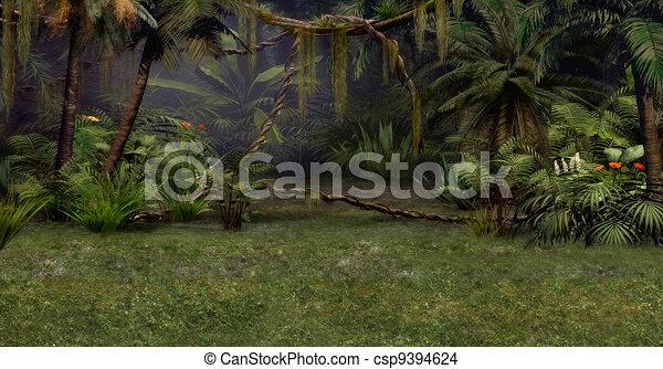 La escena de la jungla - csp9394624