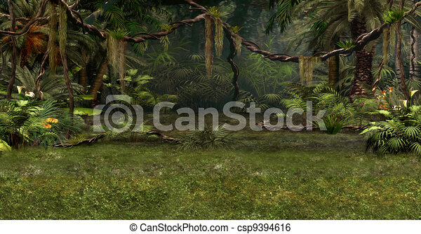 La escena de la jungla - csp9394616