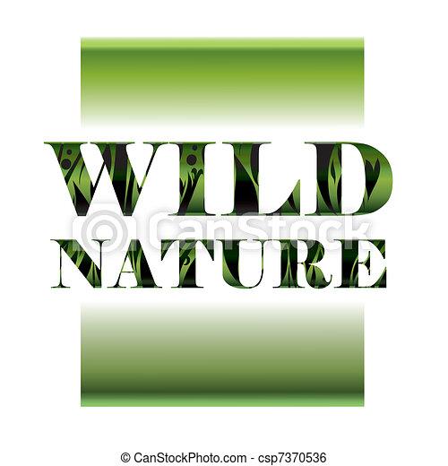 selvagem, natureza - csp7370536