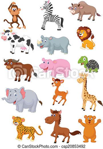 Selvatico cartone animato animale collezione - Animale cartone animato immagini gratis ...