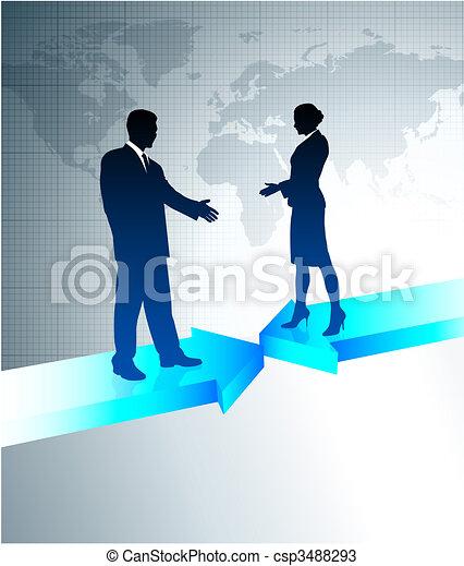 sem fios, mapa, negócio mundo, comunicações - csp3488293