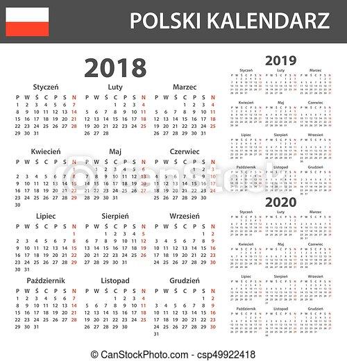 Semaine 2019 Calendrier.Semaine 2020 Lundi Debuts Template Agenda Ordre Du Jour Polonais 2019 Calendrier Programmateur 2018 Ou