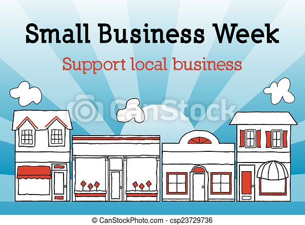 Una pequeña semana de negocios en la calle principal USA - csp23729736