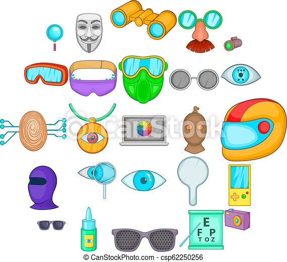 Semblance icons set, cartoon style - csp62250256
