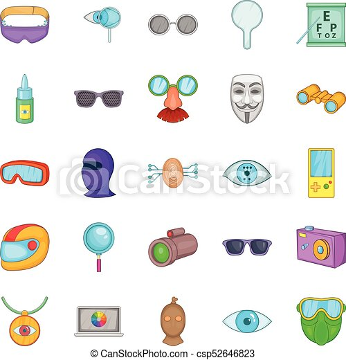 Semblance icons set, cartoon style - csp52646823