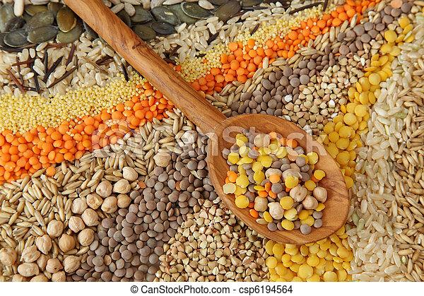 sementes, vário, grãos - csp6194564