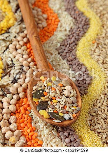 sementes, vário, grãos - csp6194599