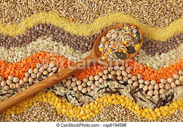 sementes, vário, grãos - csp6194598