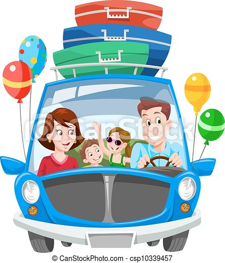 semester, familj, illustration - csp10339457