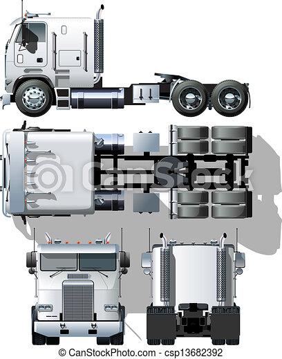 semi-caminhão - csp13682392