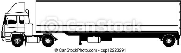 semi-camion, vecteur - csp12223291