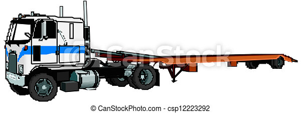 semi-camion, vecteur - csp12223292