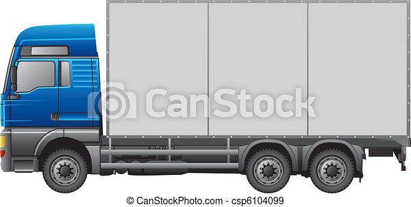 Semi remorque camion semi remorque blanc camion isol - Dessin de camion semi remorque ...