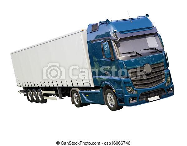 Semi remorque camion isol semi remorque moderne - Dessin de camion semi remorque ...