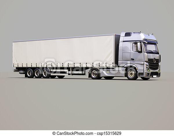 semi-remorque, camion - csp15315629