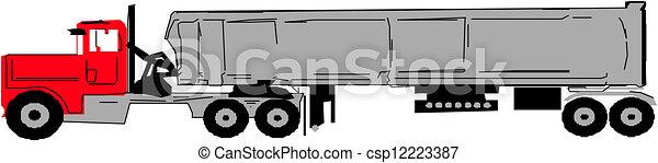 semi-remorque, camion - csp12223387