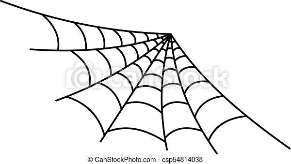 Semi round spiderweb icon outline style semi round - Spider outline clip art ...