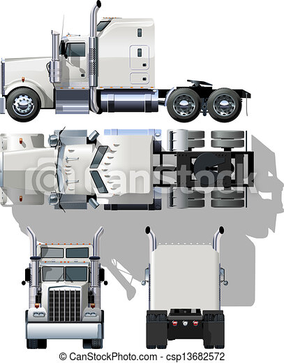 semi-truck - csp13682572