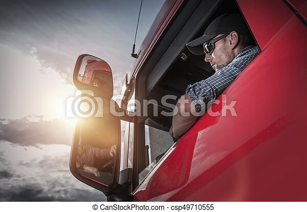 Semi Truck Driver - csp49710555