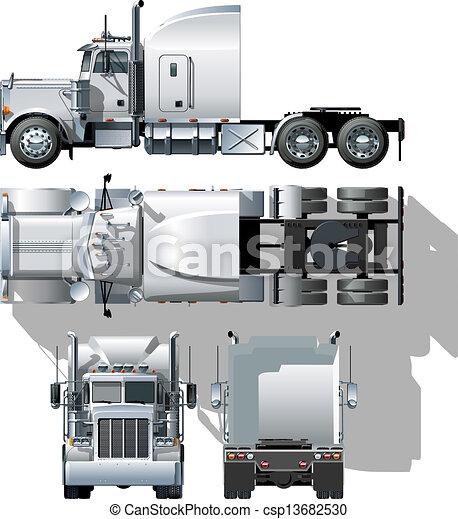 semi-truck - csp13682530
