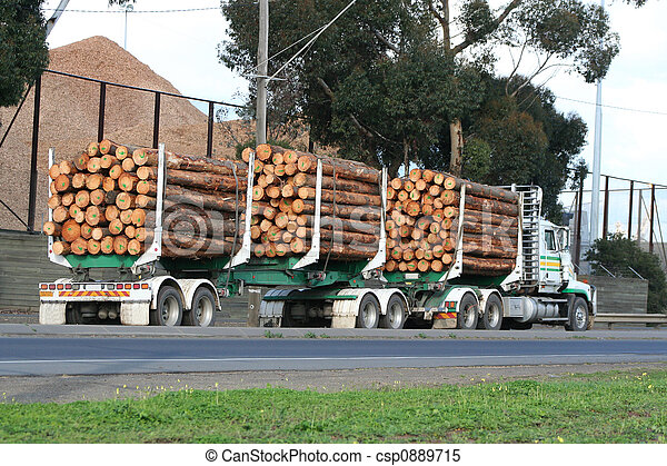 Semi truck - csp0889715