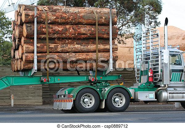 Semi truck - csp0889712