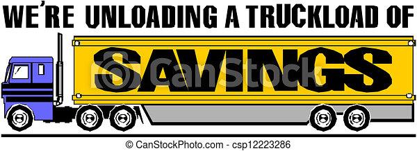 semi-truck, vektor - csp12223286