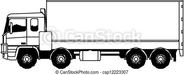 semi-truck, vektor - csp12223307