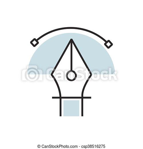 semicircle pen tool icon - csp38516275