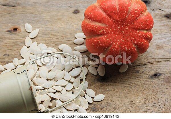 Semillas de calabaza - csp40619142