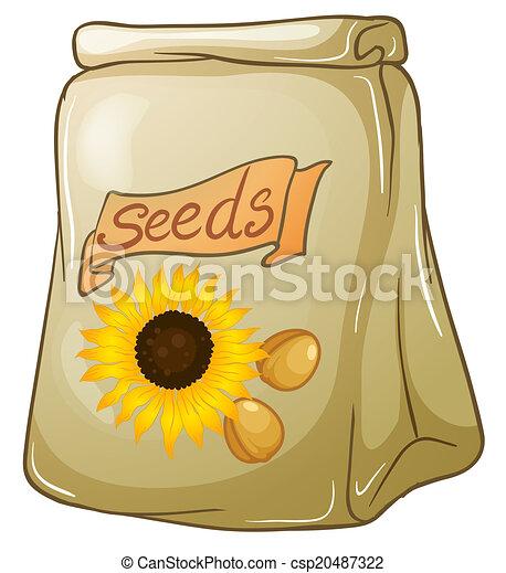Un paquete de semillas de girasol - csp20487322