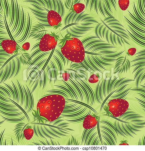 Semless pattern with strawberry - csp10801470
