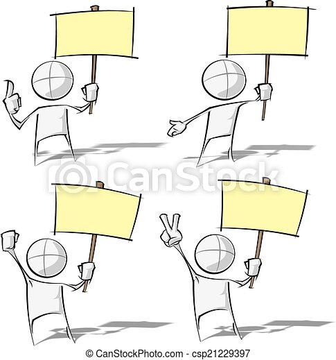 semplice, -, cartellone, presa a terra, persone - csp21229397