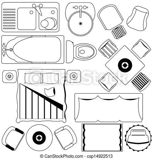 semplice, mobilia, piano, /, pavimento - csp14922513