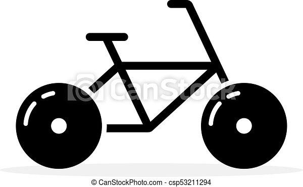 Semplice Nero Bicicletta Icona