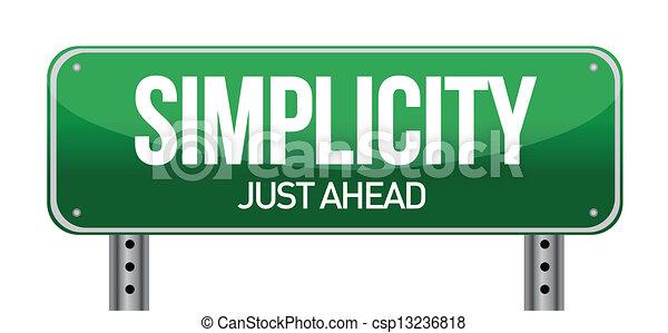 semplicità, segno strada - csp13236818