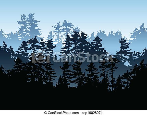 sempre-viva, floresta - csp19028074