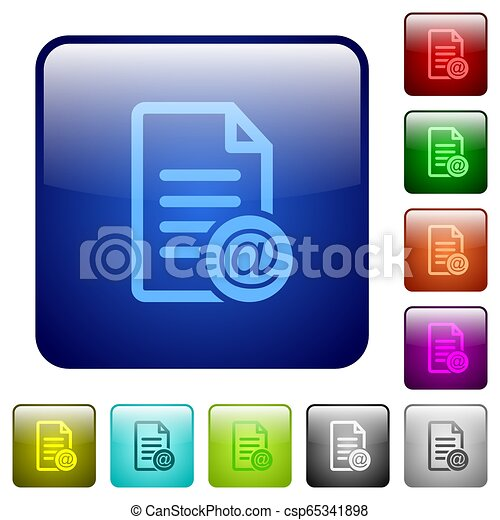 Send document as email color square buttons - csp65341898