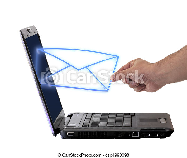 send email envelope in a laptop - csp4990098
