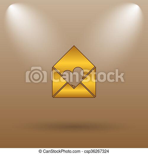 Send love icon - csp36267324