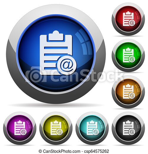 Send note as email round glossy buttons - csp64575262