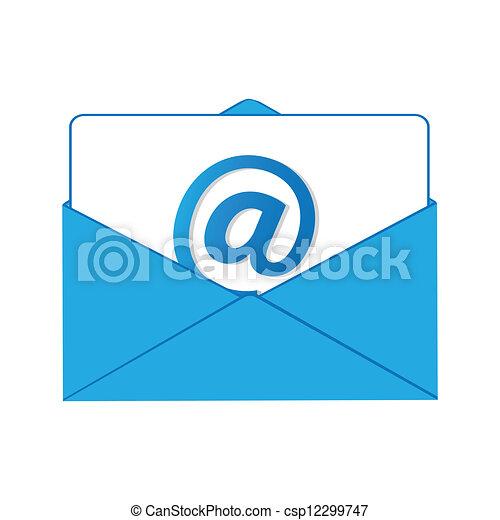 El proceso de envío de correo. - csp12299747