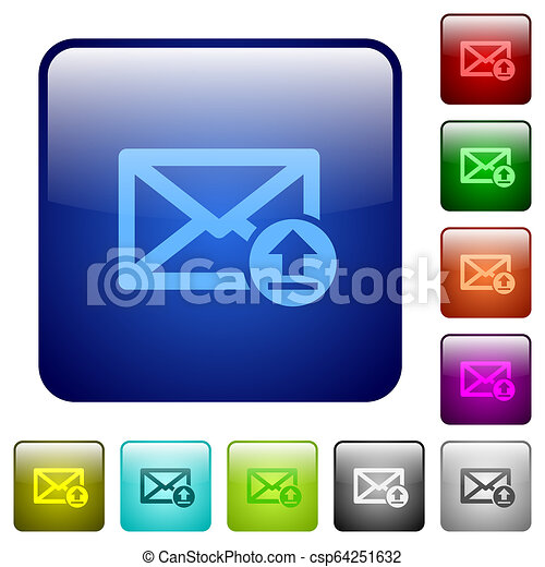 Sending email color square buttons - csp64251632