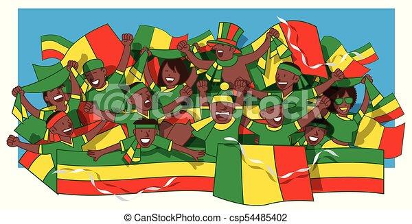 Senegal Fussballfans