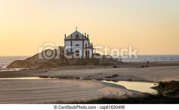 Senhor da Pedra Chapel at Dusk - csp61630406