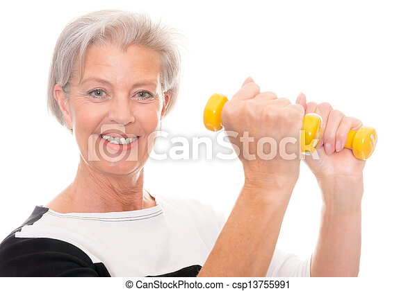 Senior at workout - csp13755991